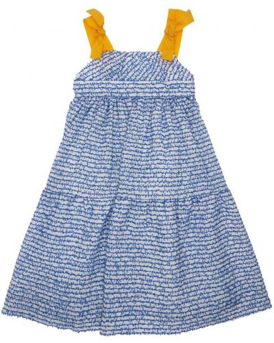 Синее платье с подкладкой в полоску Mi.mi.sol.