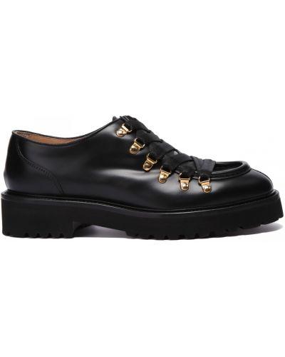 Кожаные туфли закрытые круглые Doucal's