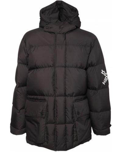 С рукавами нейлоновая куртка с капюшоном с манжетами с карманами Kenzo