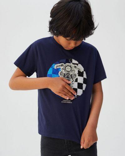 Футболка с принтом трикотажная Mango Kids