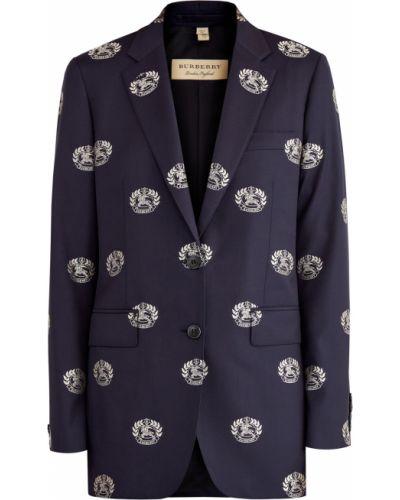 Пиджак приталенный шерстяной Burberry
