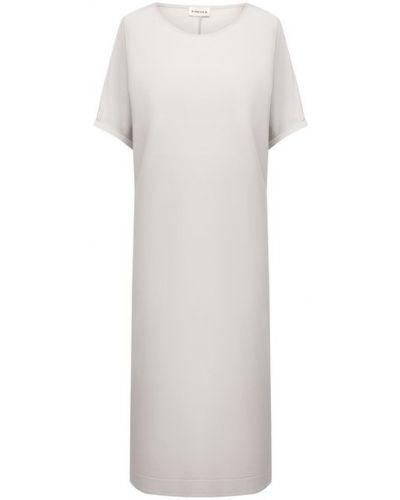 Платье из вискозы - белое 5preview