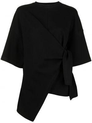 Хлопковая черная футболка с вырезом Goen.j