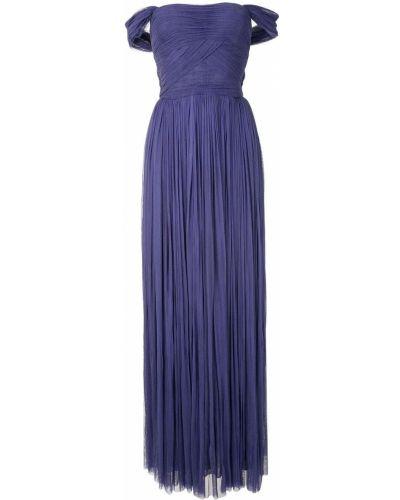 Фиолетовое шелковое вечернее платье с запахом Dolce & Gabbana
