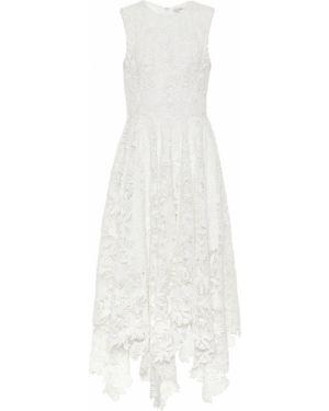 Летнее платье миди с кружевными рукавами Alexander Mcqueen