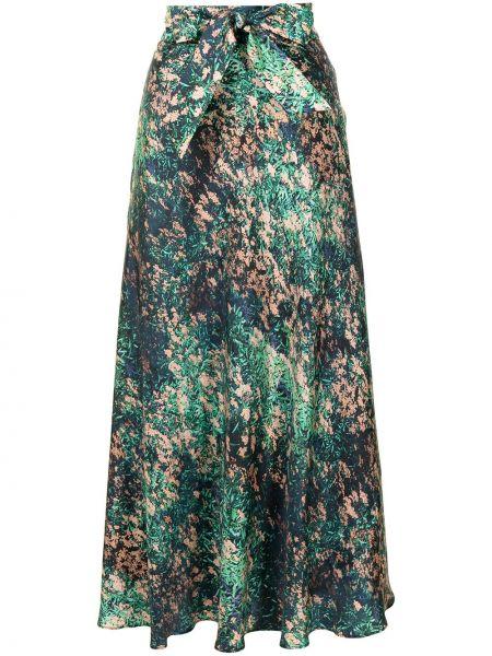Зеленая шелковая юбка Ginger & Smart