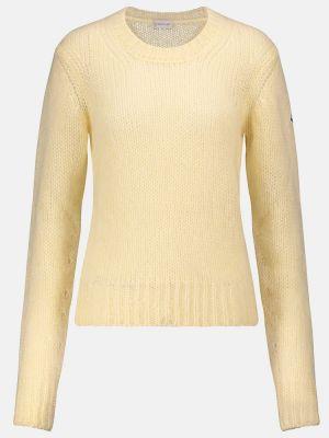 Żółty sweter wełniany Moncler