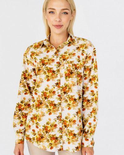 Бежевая блузка с длинными рукавами Bessa