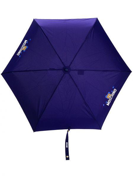Parasol z printem - niebieski Moschino