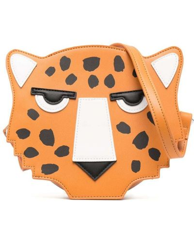 Оранжевая сумка на плечо на молнии Stella Mccartney Kids