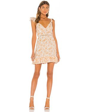 Норковое розовое платье мини Minkpink