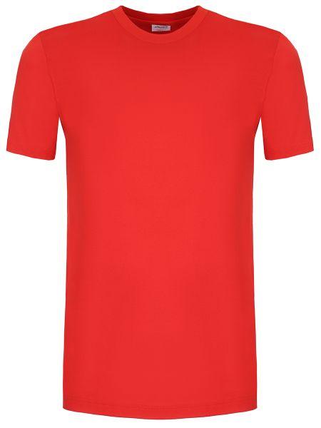 Красная хлопковая базовая футболка с круглым вырезом Zimmerli