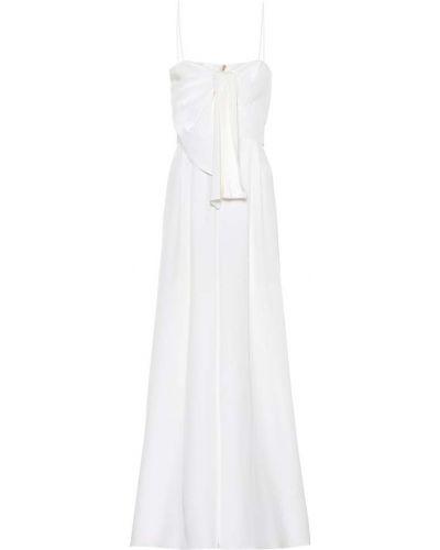 Biały jedwab spodni kombinezon Johanna Ortiz