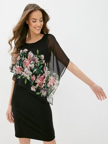 Платье футляр черное Wallis