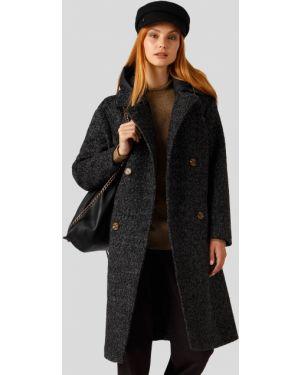 Пальто шерстяное серый Finn Flare