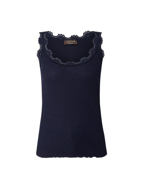 Niebieski prążkowany top bawełniany Rosemunde