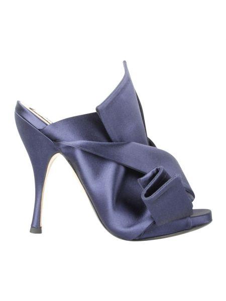 Niebieskie sandały na obcasie N°21