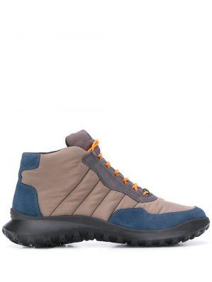 Серые кожаные ботинки на шнуровке Camper