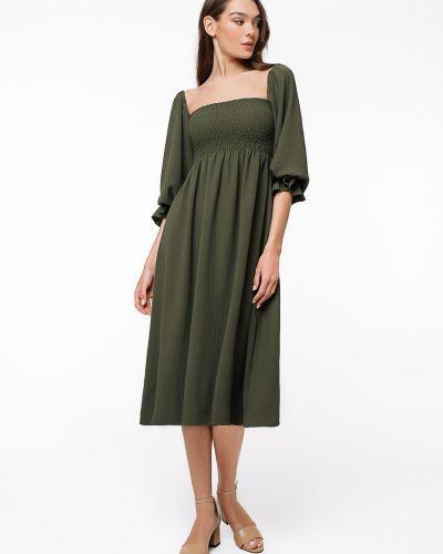Хлопковое зеленое платье на каблуке Magnetic