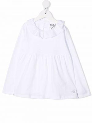 Bluzka z haftem - biała Douuod Kids