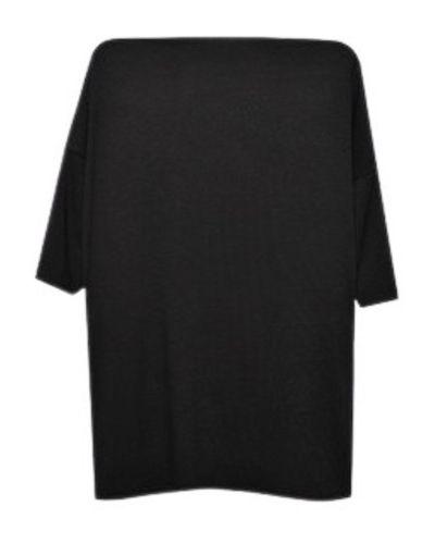 Czarna bluzka z wiskozy z paskiem Echo