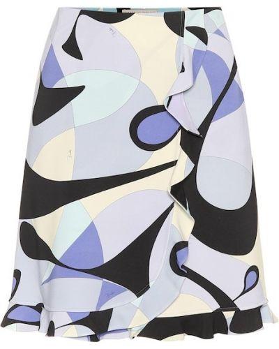 Юбка мини с цветочным принтом пачка Emilio Pucci