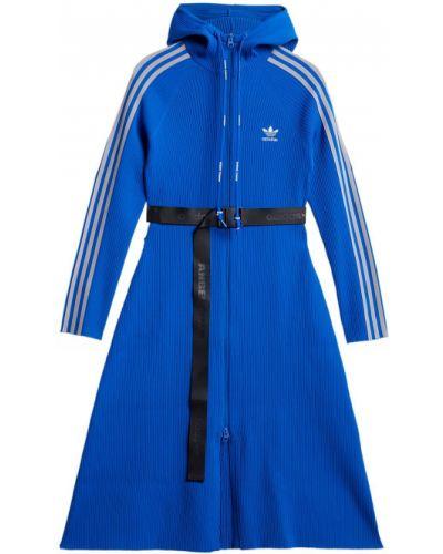 Платье из полиэстера - синее Adidas