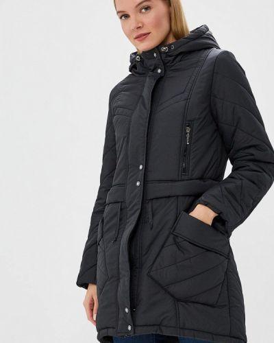 Утепленная куртка демисезонная черная Rosso-style