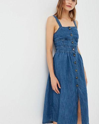 Джинсовое платье индийский осеннее Warehouse