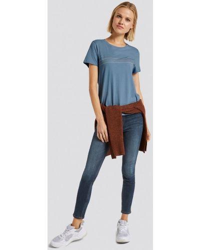Синяя футболка с короткими рукавами Tom Tailor Denim