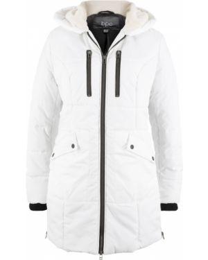 Куртка с капюшоном утепленная плюшевая Bonprix