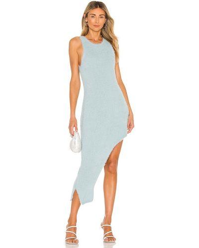Синее акриловое платье Bardot