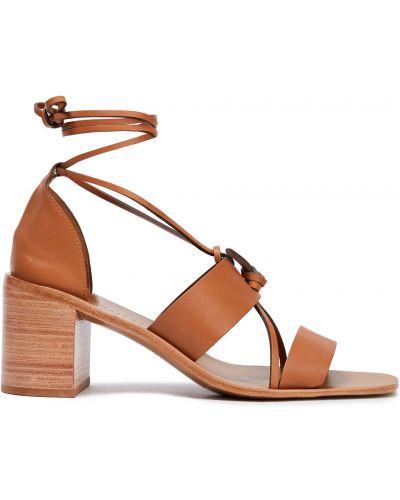 Sandały skorzane sznurowane koronkowe Zimmermann