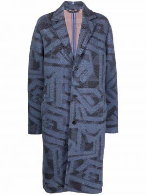 Длинное пальто - синее Mcq