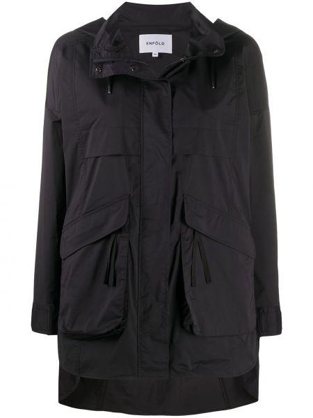 Płaszcz przeciwdeszczowy - czarny Enfold