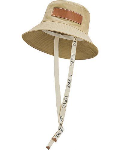 Beżowy kapelusz bawełniany Loewe