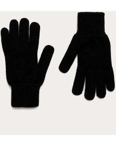 Czarne rękawiczki z akrylu Calvin Klein Jeans