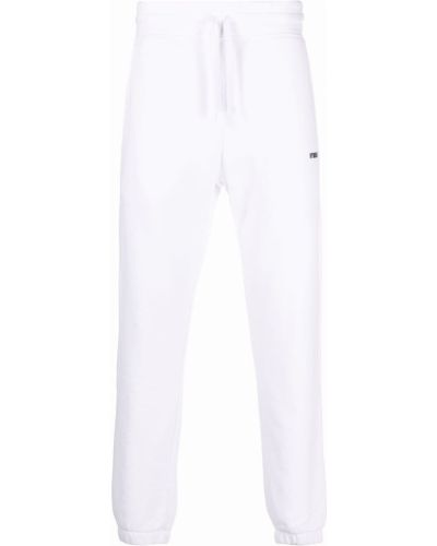 Białe spodnie bawełniane Hydrogen
