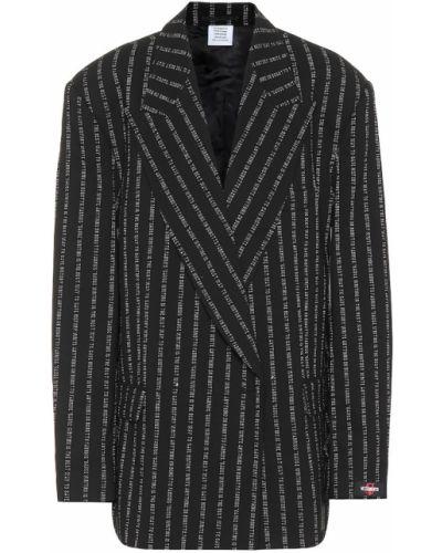 Пиджак шерстяной черный Vetements