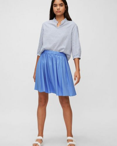 Klasyczna niebieska spódnica mini rozkloszowana Marc O Polo