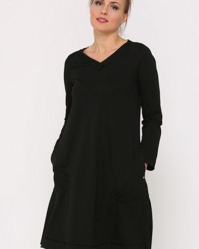 Прямое черное платье Lada Kalinina