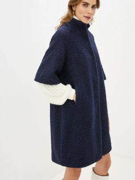 Синее пальто с капюшоном Imago