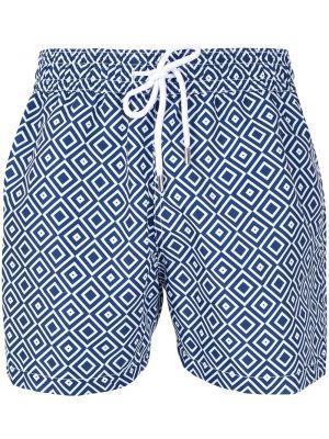Niebieskie spodenki do pływania z printem Frescobol Carioca