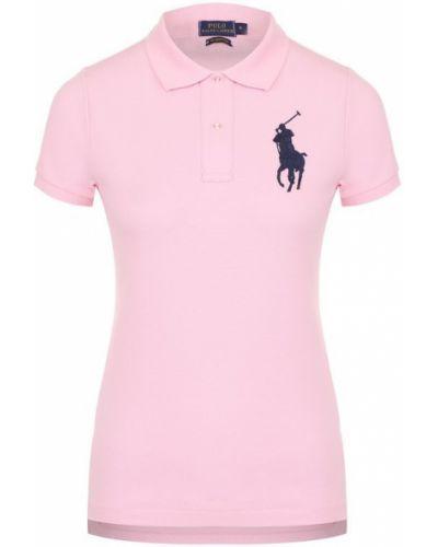 Розовое поло с логотипом Polo Ralph Lauren