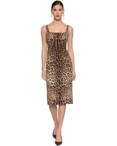 Шелковое платье миди свободного кроя с декольте Dolce & Gabbana