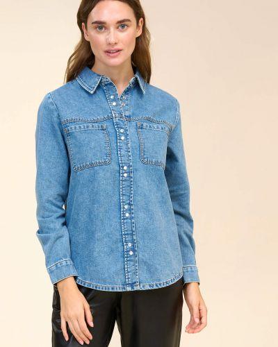 Bluzka z długimi rękawami - niebieska Orsay