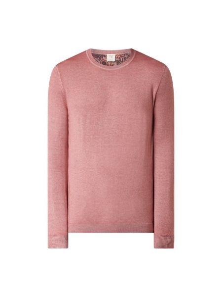 Prążkowany różowy sweter wełniany Olymp Level Five