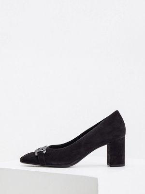 Черные велюровые туфли Hogl