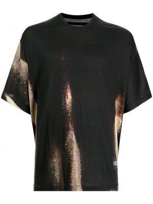 Czarna koszulka z printem Julius