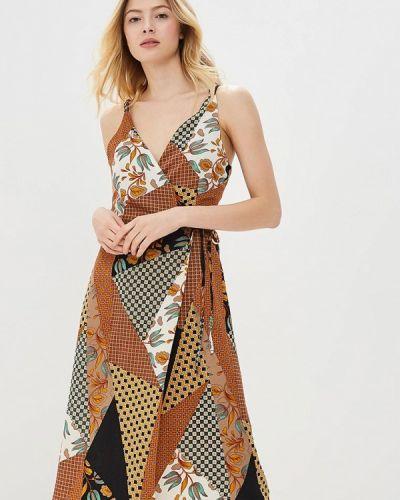 Коричневое платье весеннее Sweewe